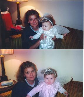 Yaya & Julia - Halloween 2001