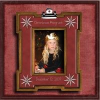 Emily Christmas Program 2007
