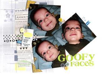 Goofy faces