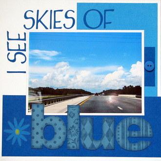I see skies of blue-Color challenge