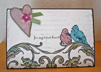 hybrid Valentines card