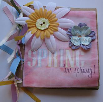 Spring Paper Bag Album