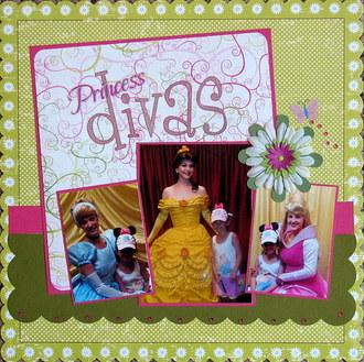 Princess divas-March alphabet challenge