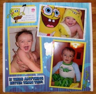 Mason & Spongebob in the Bath