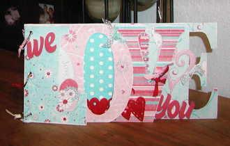 """we LOVE you"" bo bunny word book"