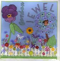 garden jewel make my own paper layout