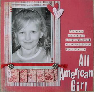 Sweet Little Beautiful Wonderful Perfect All American Girl