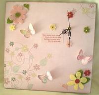 {Isn't it Romantic} Butterfly Clock