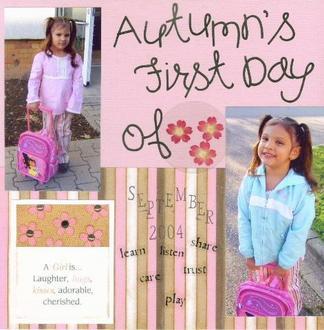 Autumn's 1st day of Sure Start