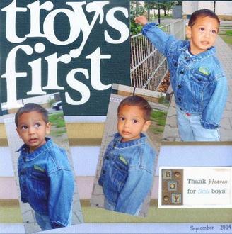 Troy's 1st day of daycare