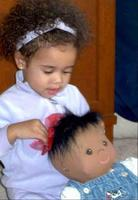 Jada with her new doll!