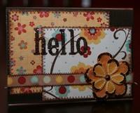 """MME Garden Party """"Hello"""" card"""