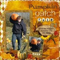 Pumpkin Patch Rule #1