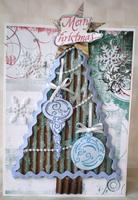 CardBoard Christmas Tree Card