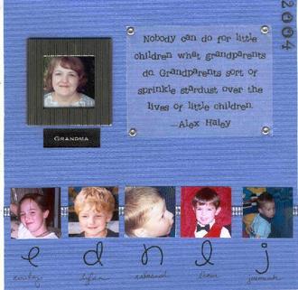 """8 x 8 """"Grandchildren"""" album"""