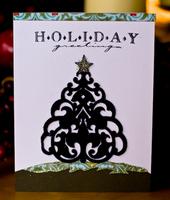 Holiday Greetings Card - Prima Felt Reveal