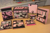 Gift Set: Purse Box Tote, 4 Greetings Cards, Photo Holder and Post-It Note Holde