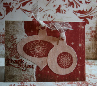 Fast Scrap - Holiday Thank You Card