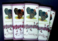 Thanksgiving candy wrap place cards