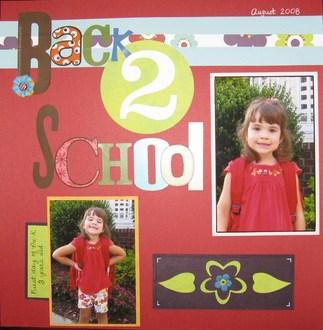 1st Day of Preschool for Ava