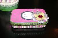 Gift Card Tin **Pink Paislee Tinsel Town CT Reveal**