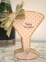 New Year's Eve Champagne Glass {Card}