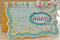 Thanks Card **Making Memories Flower Patch**