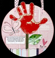 Mother's Day Hand Print Plaque
