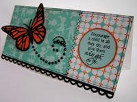 """Encourage A Child """"Teacher Card"""""""
