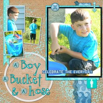 A Boy, A Bucket & A Hose