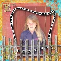Emily Behind Fence