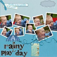 A rainy play day - Aug Digi technique challenge