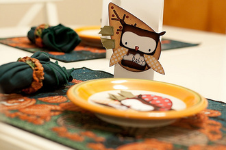 Thanksgiving Place Cards {CT Holiday Hybrid Reveal}