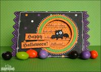 Happy Halloween Bat Card
