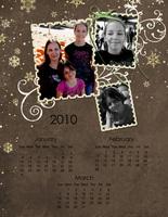 2010 Calendar {digi CT reveal}