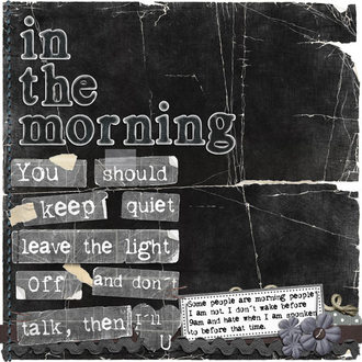 In the morning - Challenge #1