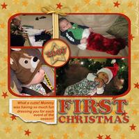 First Christmas - Jan Sketch Challenge