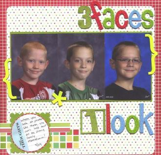 3 faces 1 look
