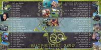 Bucket List 2010