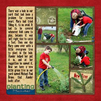 Planting Michael