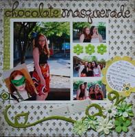 chocolate masquerade  (April challenge - scrap something formal)