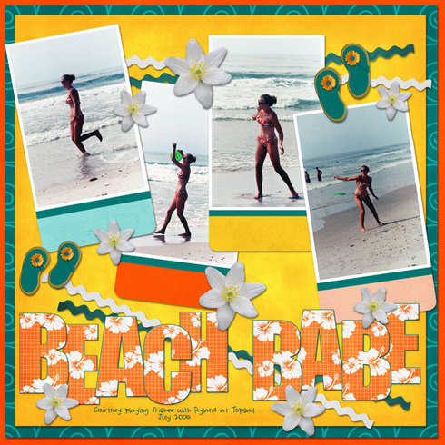 Digital Scrapbook Layouts Gallery: Beach Babe by SparkysGirl