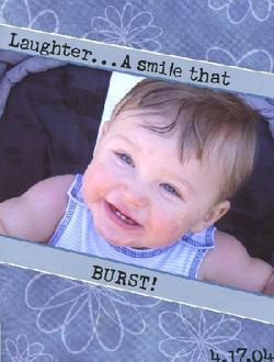 Laughter...A smile that burst!