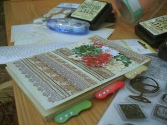 Shabby Jeweled Notepad