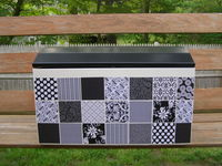 Black and White Patchwork Chest
