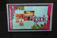 Thank you in a Barbie way {Hybrid Card}
