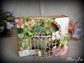 """Handmade wedding album with """"gates"""" cover"""