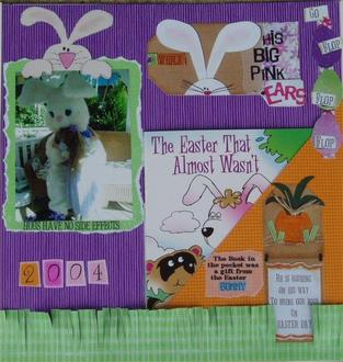Easter Bunny Book pocket Page