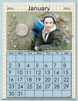 2011 Calendar Pages