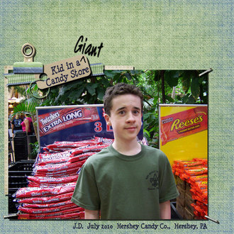 Kid in a GIANT Candy Store